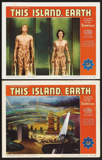 "This Island Earth (Universal, 1955). Lobby Cards (2) (11"" X 14""). Science Fiction. Starring Jeff Morrow, Faith..."