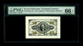 Fractional Currency:Third Issue, Fr. 1251/55SP 10¢ Third Issue Wide Margin Set of Three PMG Gem Uncirculated 66 EPQ/66 EPQ/65 EPQ. All three Wide Margin Spec... (Total: 3 notes)