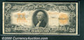 Large Size Gold Certificates:Large Size, 1922 $20 Gold Certificate, Fr-1187, Fine-VF. A few heavy folds ...