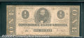 Confederate Notes:1863 Issues, 1863 $1 Clement C. Clay, T-62, VG. Cr-474. This note is limp an...