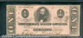 Confederate Notes:1863 Issues, 1863 $1 Clement C. Clay, T-62, XF-AU. Cr-474. There are two fol...