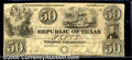 Miscellaneous:Republic of Texas Notes, 1840 $50 Republic of Texas, VF. Cr-A7. An attractive example wi...