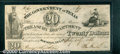 Miscellaneous:Republic of Texas Notes, 1838 $20 Government of Texas, VF. Cr-H19. A crisp note with num...