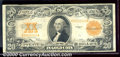 Large Size Gold Certificates:Large Size, 1922 $20 Gold Certificate, Fr-1187, VF. A crispy note with nice...