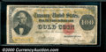 Large Size Gold Certificates:Large Size, 1922 $100 Gold Certificate, Fr-1215, VG. This note has the body...