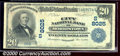 National Bank Notes:Tennessee, City National Bank of Morristown, TN, Charter #8025. 1902 $20 T...