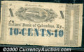 Miscellaneous:Other, 10 cents, Sutlers' Bank of Columbus, KY, 1862, Fine-VF. An attr...