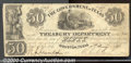 Miscellaneous:Republic of Texas Notes, $50, Government of Texas, hand written date January 14, 1839, F...