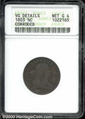 1803 1/2 C --Corroded--ANACS. VG Details, Net Good 4. B-3, C-3, R.1. The rough surfaces display mottled dark brown and c...