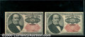 Fractional Currency: , 1874-1876, 25c Fifth Issue, Walker, Fr-1309, 2 pieces, XF-AU. T...