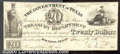 Miscellaneous:Republic of Texas Notes, 1838 $20 Government of Texas, Cr-H19, VF. A nice, crisp note wi...