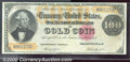 Large Size Gold Certificates:Large Size, 1882 $100 Gold Certificate, Fr-1214, Fine-VF. A very pleasing n...