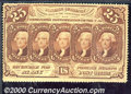 Fractional Currency: , 1862-1863, 25c First Issue, Jefferson Stamps, Perforated, Fr-12...