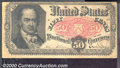 Fractional Currency: , 1874-1876, 50c Fifth Issue, Crawford, Fr-1381, Fine. Aged paper...
