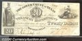Miscellaneous:Republic of Texas Notes, $20 Government of Texas, Houston 1839, VF. Cr-H19. A pleasing, ...