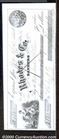 Miscellaneous:Checks, 1854 Check, Rhodes & Co. Bankers, Yreka, CA, XF. Aninteresting...