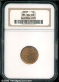 Indian Cents: , 1901 1C, RD