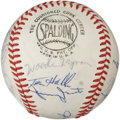 Autographs:Baseballs, 1968 NL All-Star Team Signed Baseball. In 1968, baseball began its transition into a new era when the first All-Star game p...
