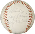 Autographs:Baseballs, 1973 Baltimore Orioles Team Signed Baseball. Earl Weaver's 1973 ALEast pennant winners are represented here with the 21 si...
