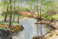 Texas:Early Texas Art - Impressionists, CATHERINE MCKINLEY SMITH (1908-1990). White Rock Lake.Watercolor on paper. 14-1/2 x 21 inches (36.8 x 53.3 cm). Signed...