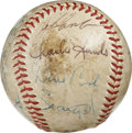 Autographs:Baseballs, 1971 Pittsburgh Pirates Team Signed Baseball. Great team signedbaseball dating from the tail end of Pirates great Roberto ...