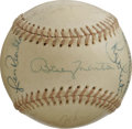 Autographs:Baseballs, 1979 New York Yankees Team Signed Baseball. In the year followinghis back-to-back World Series triumphs, skipper Billy Mar...
