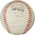 Autographs:Baseballs, 1970 California Angels Team Signed Baseball. The provided offeringmakes available a total of twenty-two signatures, all am...