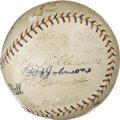 Autographs:Baseballs, 1927 St. Louis Browns Team Signed Baseball. Exceptional vintage orb offers 22 signatures from the 1927 St. Louis Browns wit...