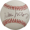 Autographs:Baseballs, Willie McCovey Single Signed Baseball. Part of one of the mostpotent 3-4 batting lineups in the history of baseball along ...