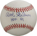 "Autographs:Baseballs, Bob Gibson ""HOF 81"" Single Signed Baseball. One could not ask for amuch more impressive example than the brilliant single ..."