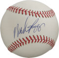 Autographs:Baseballs, Wade Boggs Single Signed Baseball. The clean white OAL (Brown)baseball seen here makes for an excellent canvas for the Hal...
