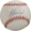 Autographs:Baseballs, Ken Griffey, Jr. Single Signed Baseball. Yet another example of theKen Griffey, Jr. single, this one a 10/10 sweet spot ap...