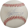 Autographs:Baseballs, Ken Griffey, Jr. Single Signed Baseball. One of the finest playersof his generation is represented with the sweet spot sig...