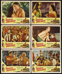 """South of Pago Pago (United Artists, R-1947). Lobby Cards (6) (11"""" X 14""""). Adventure. Starring Victor McLaglen..."""