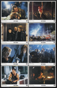 "Die Hard (20th Century Fox, 1988). Lobby Card Set of 8 (11"" X 14""). Action. Starring Bruce Willis, Alan Rickma..."