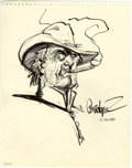 Original Comic Art:Sketches, Jose Luis Garcia-Lopez - Jonah Hex Sketch Original Art (2000)....(Total: 0)