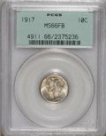 Mercury Dimes: , 1917 10C MS66 Full Bands PCGS. PCGS Population (69/13). NGC Census:(35/7). Mintage: 55,230,000. Numismedia Wsl. Price for ...