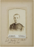 Military & Patriotic:Indian Wars, Albumen Photograph Charles V. Clark 4th Cavalry 1870s-1880s - ...