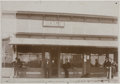 Photography:Cabinet Photos, Framed Photograph of Bank Building 1880s-1890s - ...