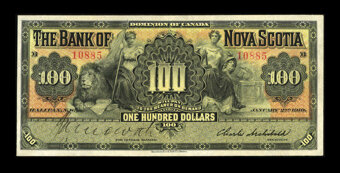 Featured item image of Halifax, NS- The Bank of Nova Scotia $100 Jan. 2, 1919 Ch. # 550-28-36  ...