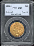 Indian Eagles: , 1909-S $10