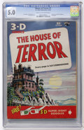Golden Age (1938-1955):Horror, House of Terror #1 (St. John, 1953) CGC VG/FN 5.0 Cream tooff-white pages....
