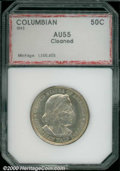 1893 50C Columbian AU 55 Cleaned PCI. Curiously bright with scattered hairlines....(PCGS# 9297)