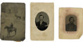 Photography:Tintypes, Three Tintypes, Including Texas Jack. ... (Total: 3 Items)