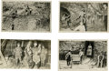 Western Expansion:Goldrush, Vintage Mining Postcards, circa 1910-20. ... (Total: 4 Items)