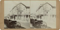 Photography:Stereo Cards, Stereoview Street Scene of Unidentified Town, circa 1880s. ...