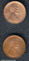 A lot of Lincoln cents, as follows: 1911-S 1C MS 64 Red and Brown; 1912-S MS 60 Red and Brown, Cleaned; 1913-S MS 60 Bro...