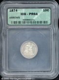 Additional Certified Coins: , 1874 10C ARROWS