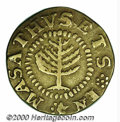 1652 Pine Tree Shilling VF 30. Small Planchet. Breen-53, Noe-16. 56.3 grains. The planchet is somewhat clipped with the...