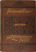 Books:First Editions, Mark Twain [Samuel L. Clemens]. The Tragedy of Pudd'nhead Wilsonand the Comedy Those Extraordinary Twins. Hartf...